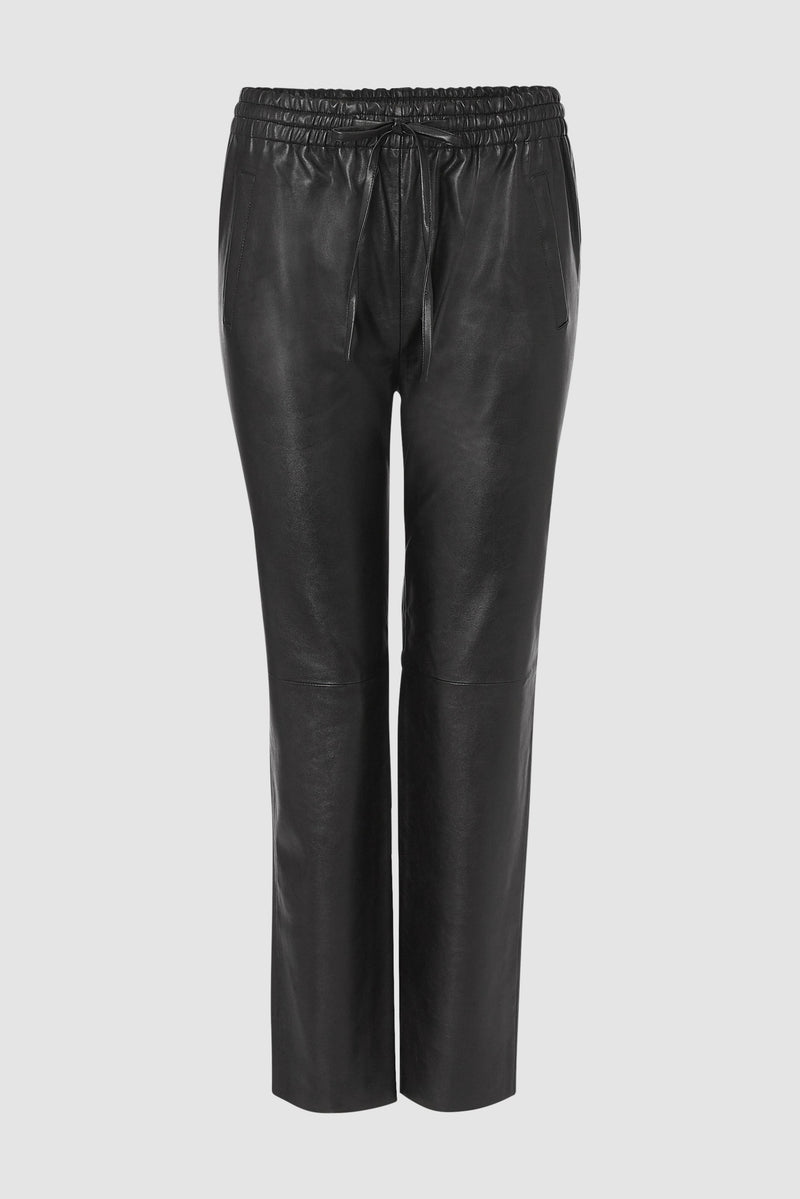 Rich & Royal - Fake leather jogger-style trousers - bust