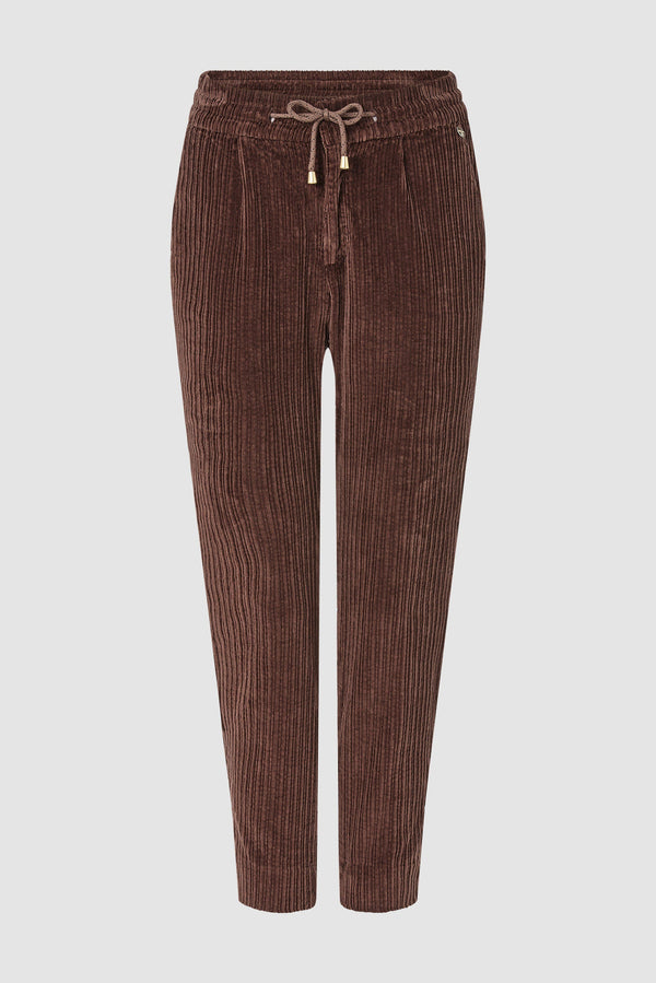 Rich & Royal - Corduroy jogger-style trousers - bust