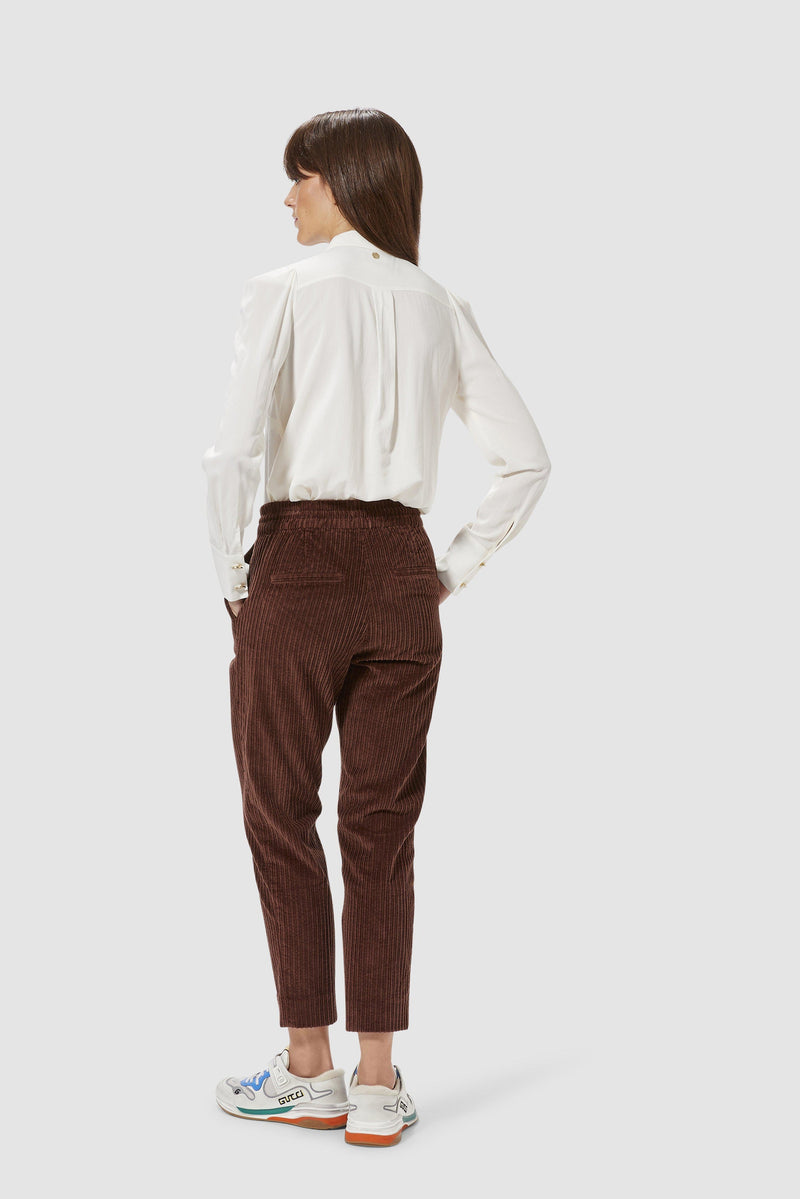 Rich & Royal - Corduroy jogger-style trousers - model image back