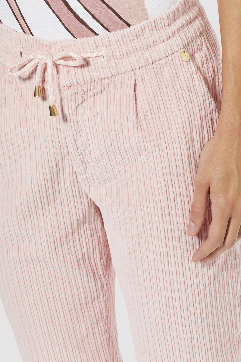 Rich & Royal - Corduroy jogger-style trousers - detail view