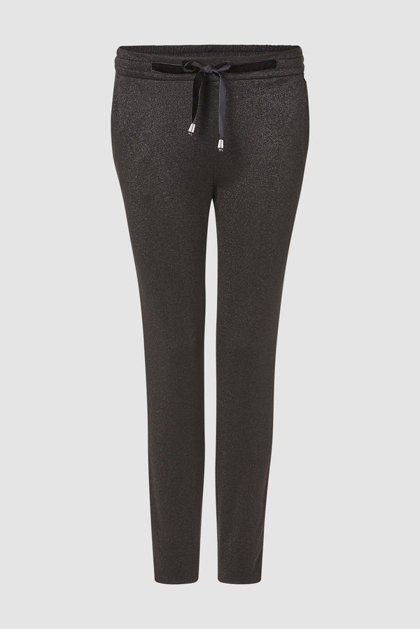 Rich & Royal - Trousers with subtle glitter effect - bust