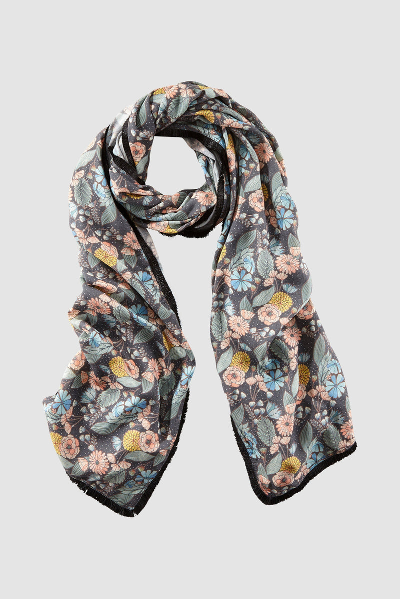 Rich & Royal - Floral printed scarf - bust