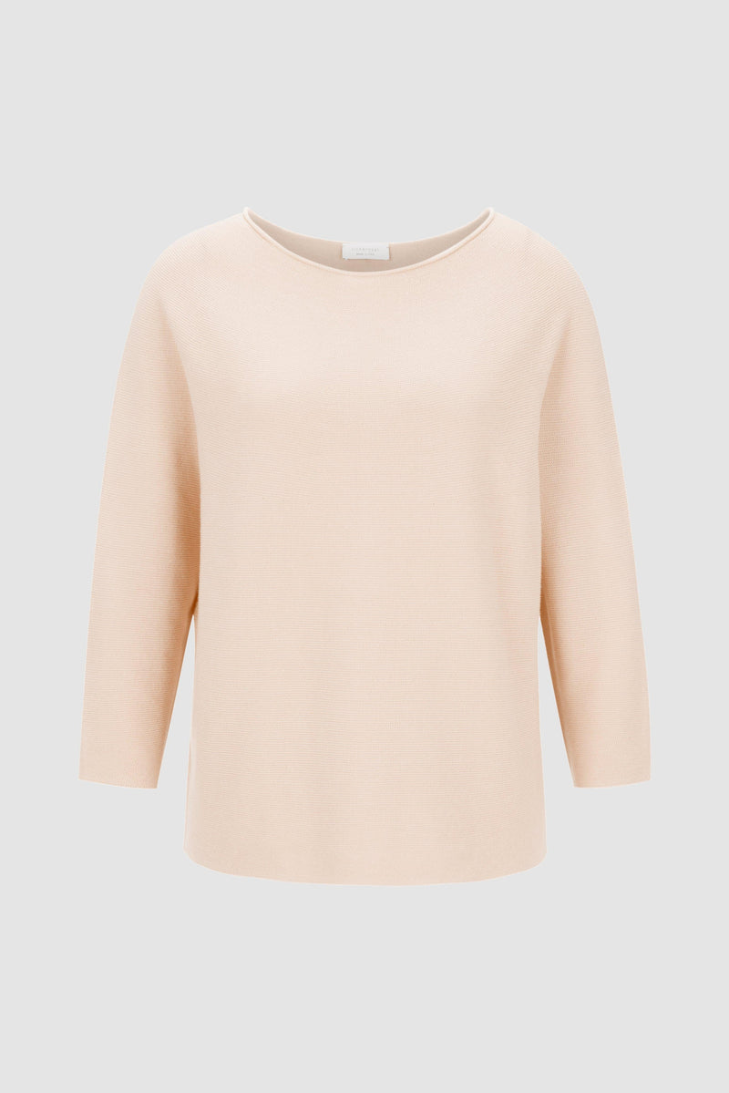 Rich & Royal - Round neck jumper in fine knit - bust