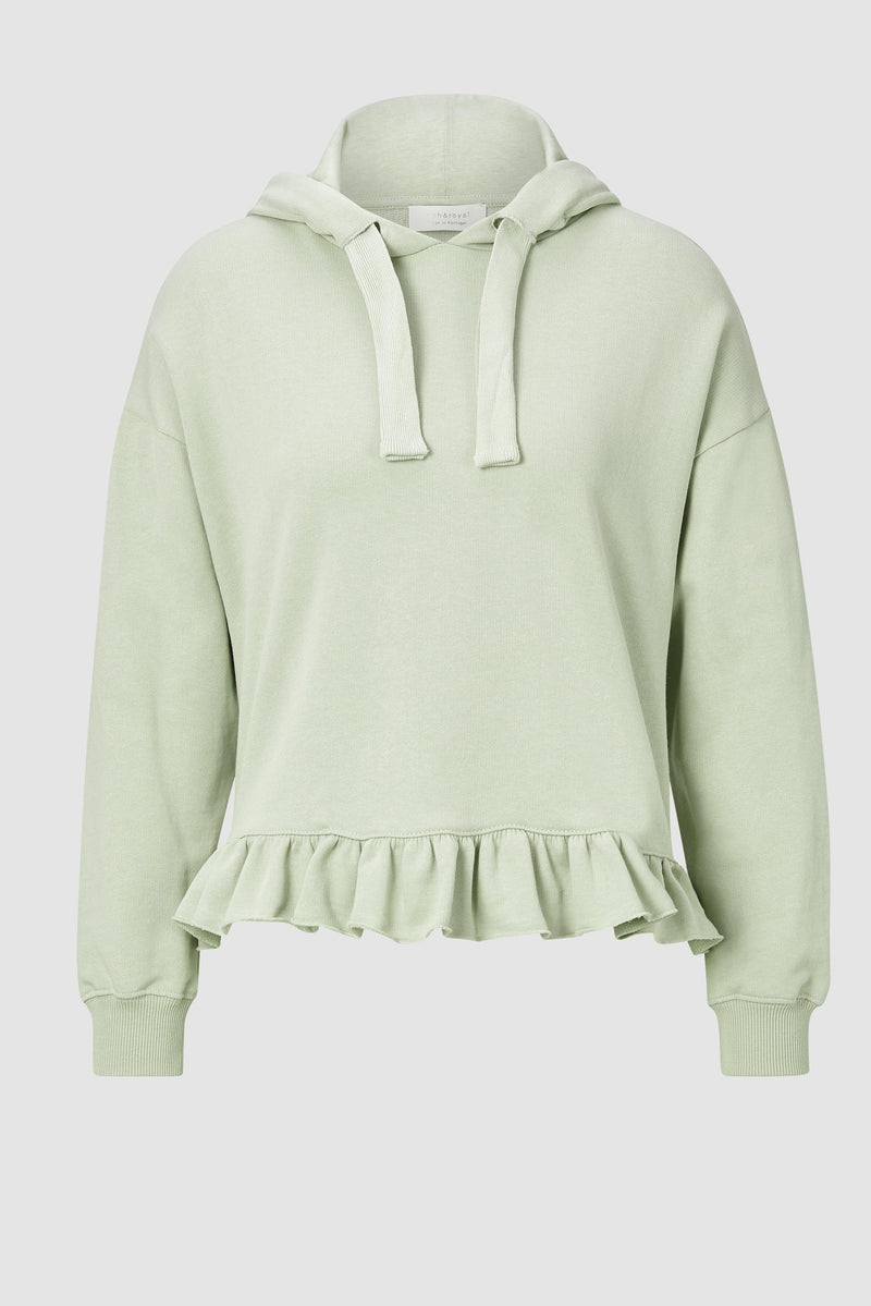 Rich & Royal - Hoodie with frills - bust