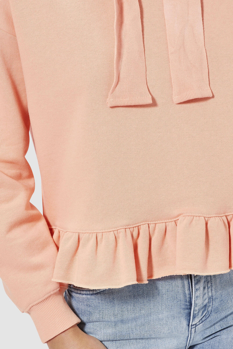 Rich & Royal - Hoodie with frills - detail view