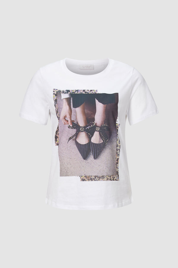 Rich & Royal - Printed T-shirt with rhinestones - bust