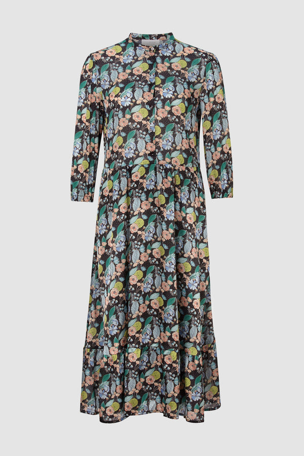 Rich & Royal - Printed dress with frilled hem - bust