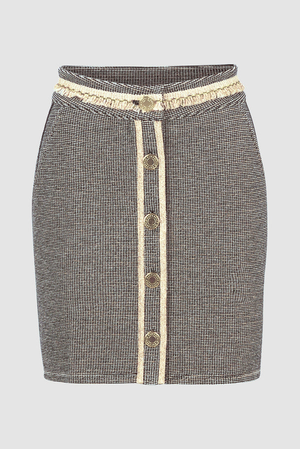 Rich & Royal - Mini skirt with lurex accents - bust