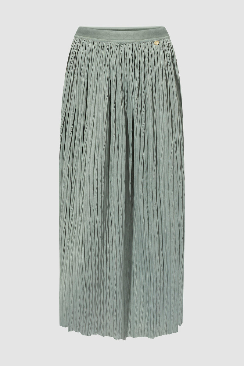 Rich & Royal - Pleated skirt with herringbone structure - bust