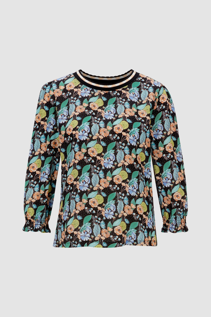 Rich & Royal - Long-sleeved top with floral print - bust