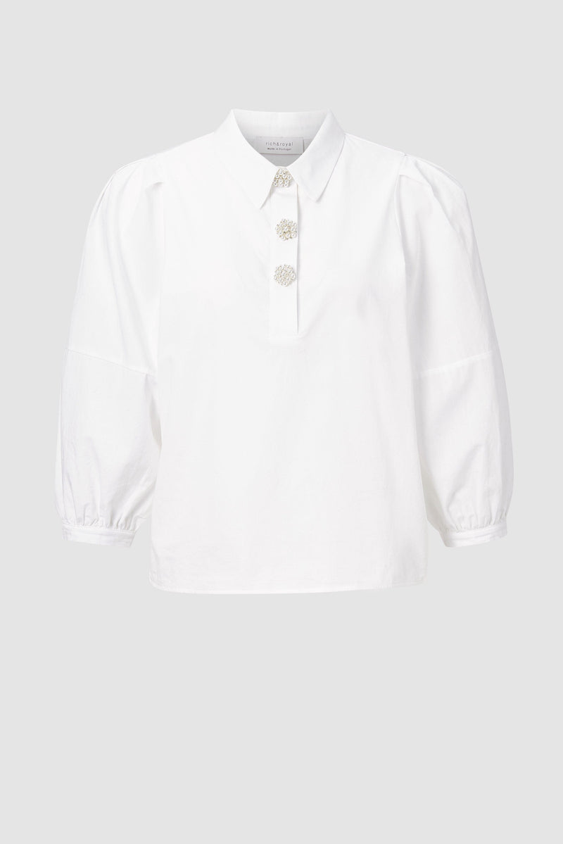 Rich & Royal - Blouse with decorative buttons - bust