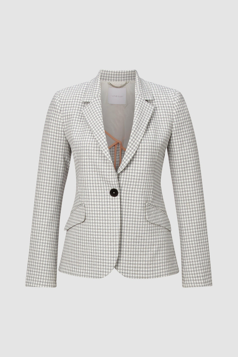 Rich & Royal - Checked blazer in figure-hugging silhouette - bust