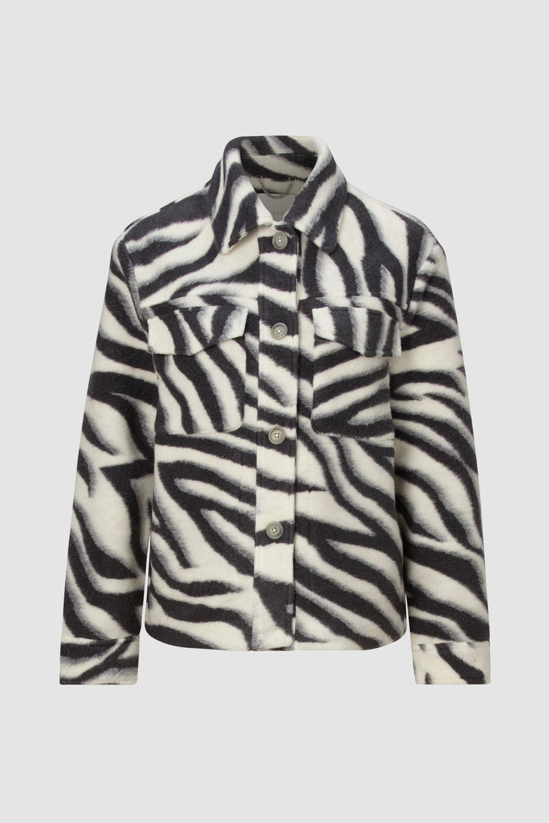 Rich & Royal - Shacket in zebra look - bust
