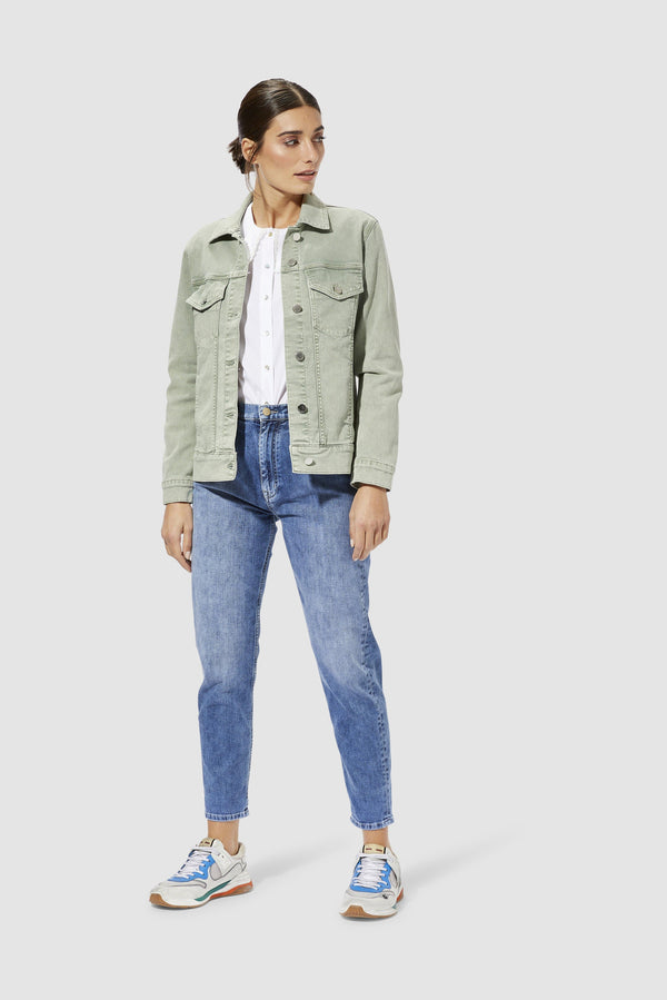 Rich & Royal - Oversized denim jacket - model image front
