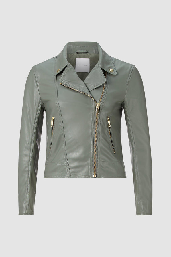 Rich & Royal - Artificial leather biker jacket - bust
