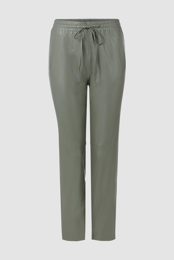 Rich & Royal - Artificial leather jogger-style trousers - bust