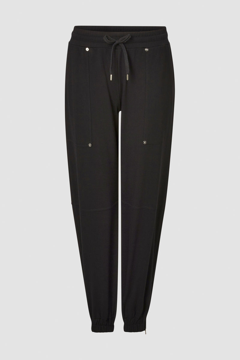 Rich & Royal - Refined jogger-style trousers with shiny decorative rivets - bust
