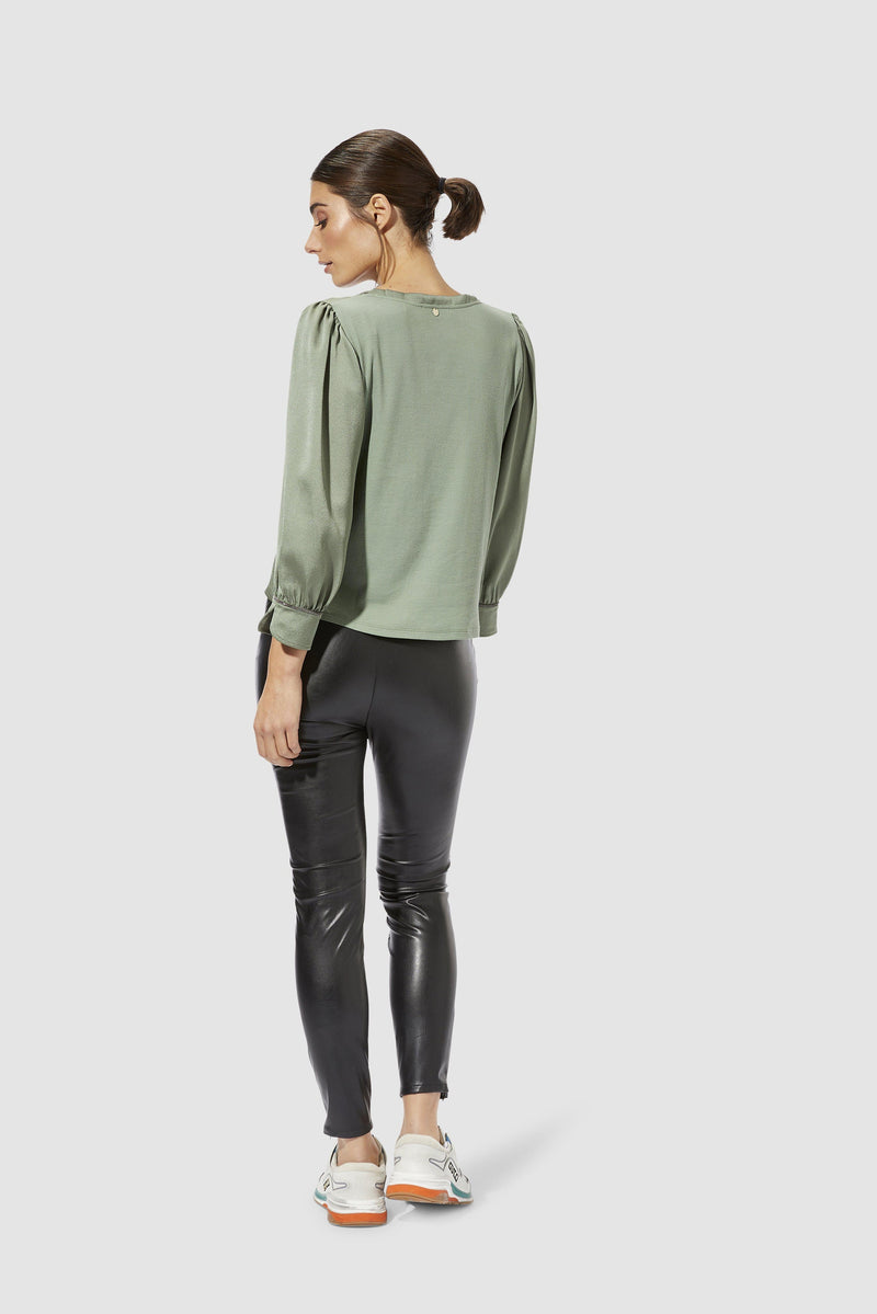 Rich & Royal - Artificial leather leggings - model image back
