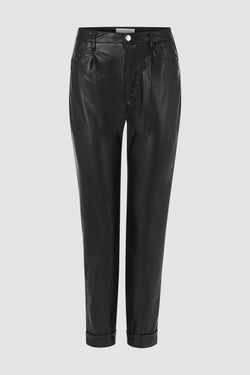Rich & Royal - Artificial leather trousers in loose fit - bust