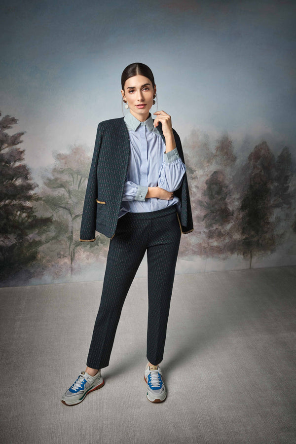 Rich & Royal - Trousers with lurex accents and beaded details - campaign image