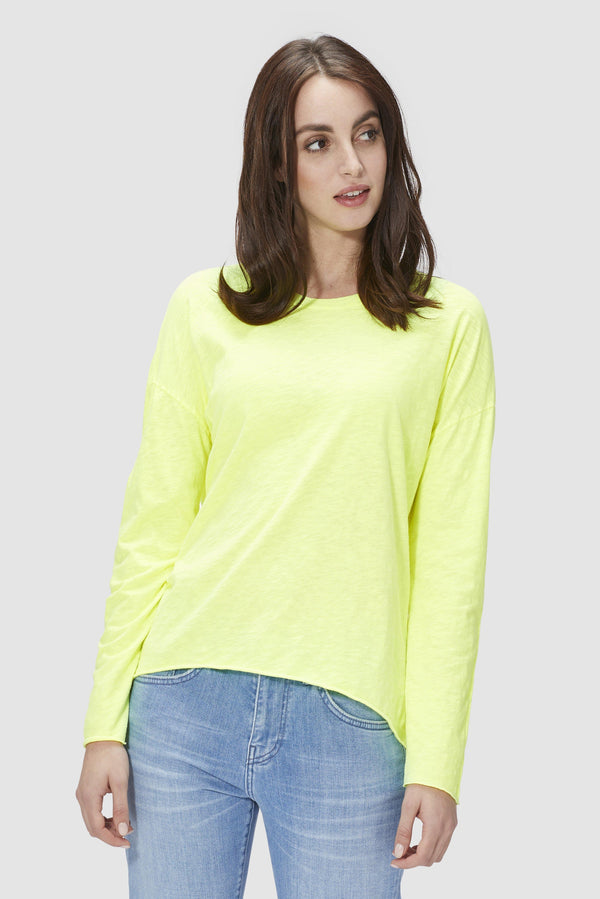 Oversized long-sleeved top