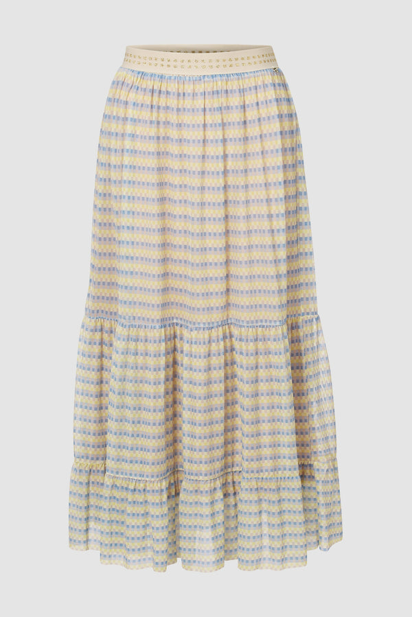 Rich & Royal - Printed mesh skirt - bust