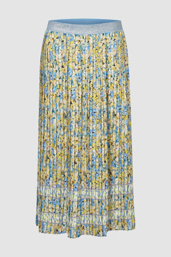 Rich & Royal - Pleated skirt with floral print - bust