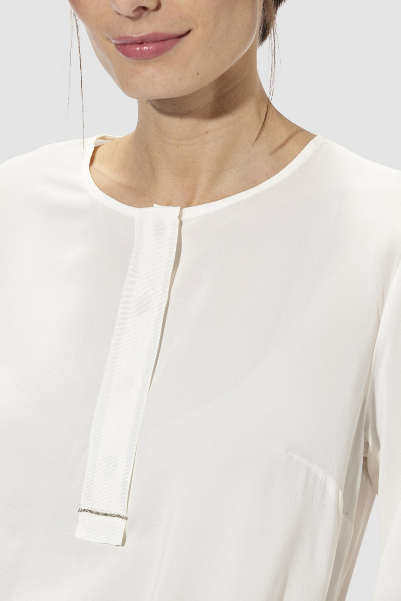 Rich & Royal - Blouse with corded ribbon - detail view