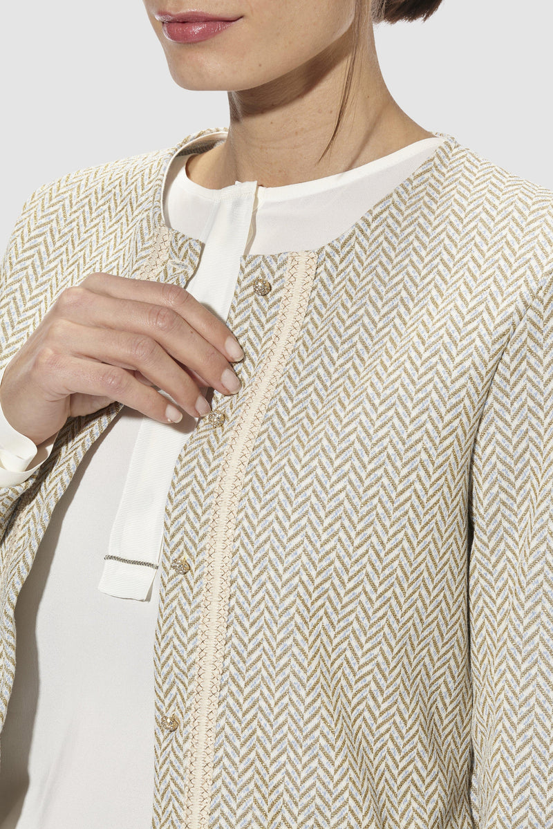 Rich & Royal - Lurex jacquard jacket - detail view