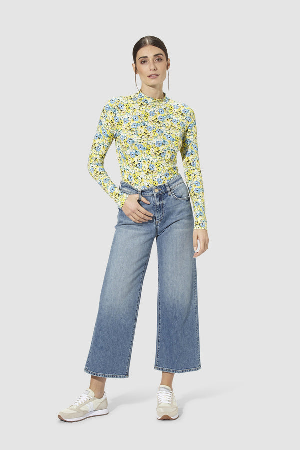 Rich & Royal - Denim culottes - model image front