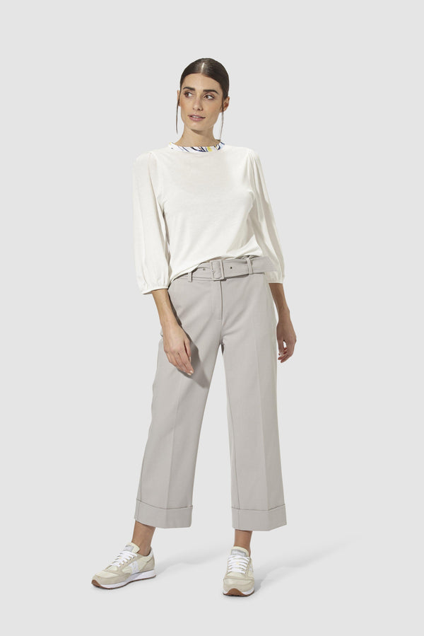 Rich & Royal - Culottes with belt - model image front