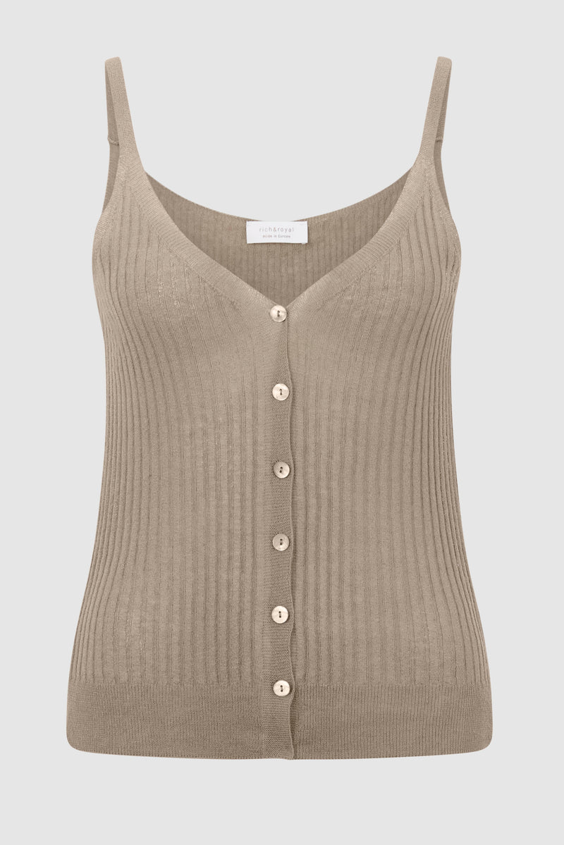 Knitted top with linen