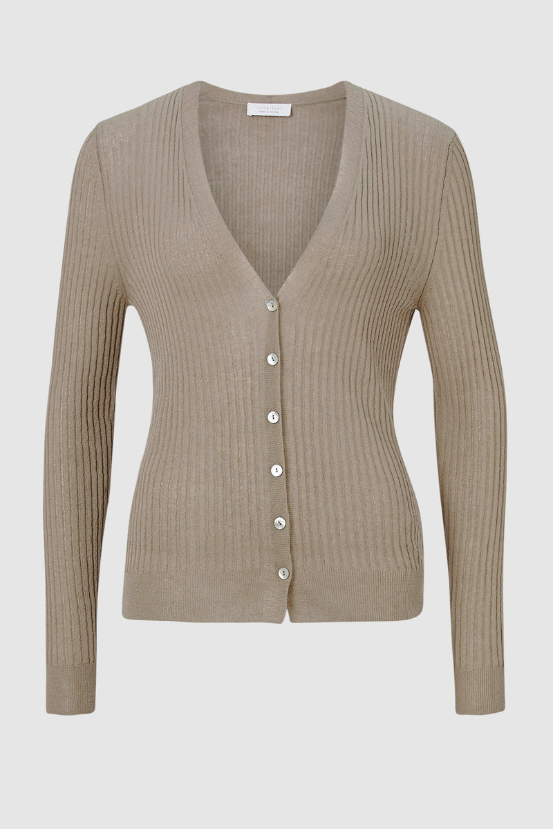 Cardigan with linen