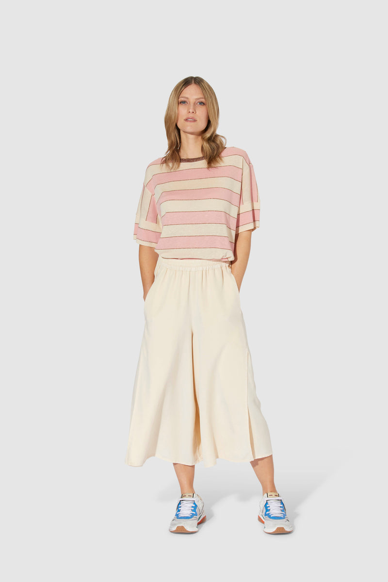 Striped T-shirt with lurex