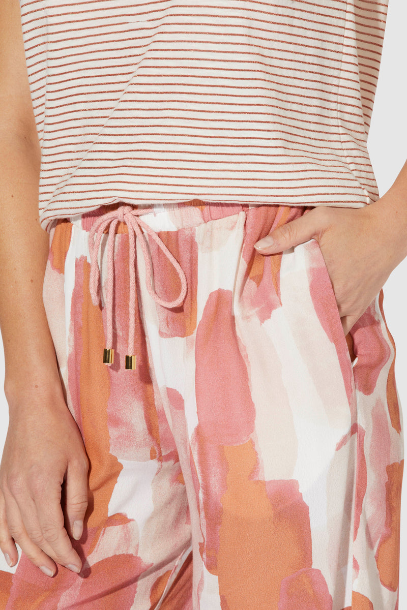 Culottes with side slits