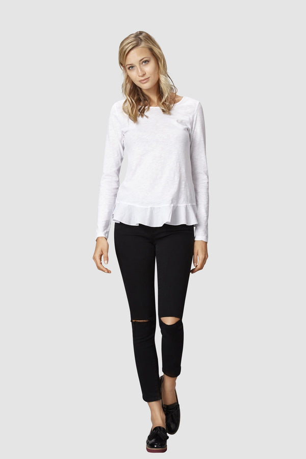 Peplum Long-Sleeve Shirt