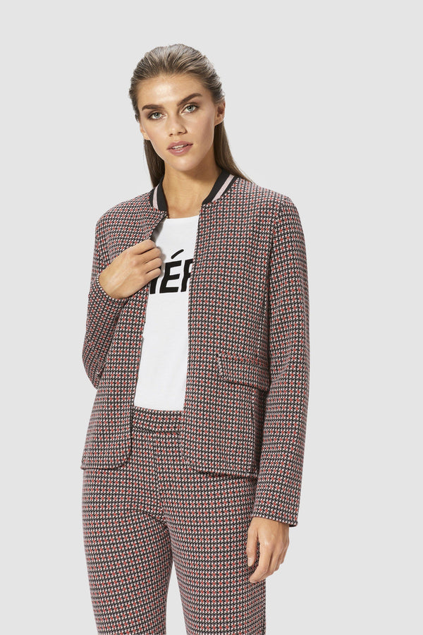 Sporty checked jacket