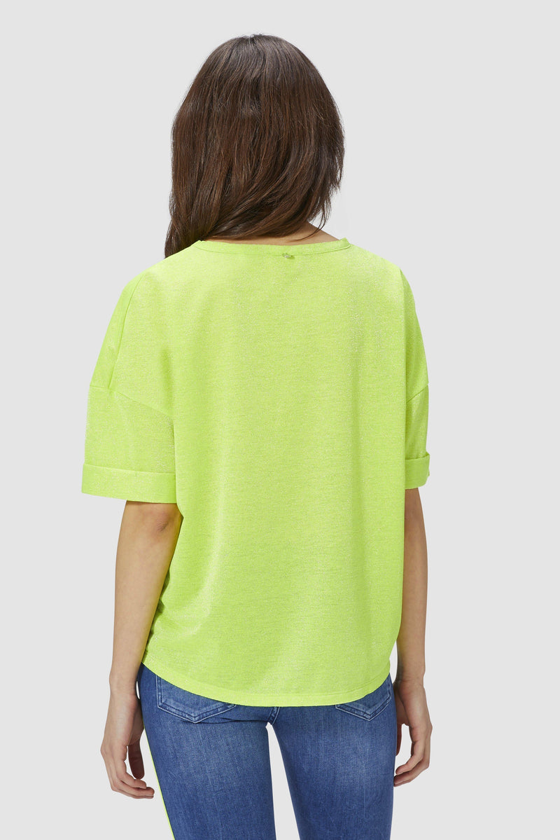 Lurex T-Shirt with boxy cut