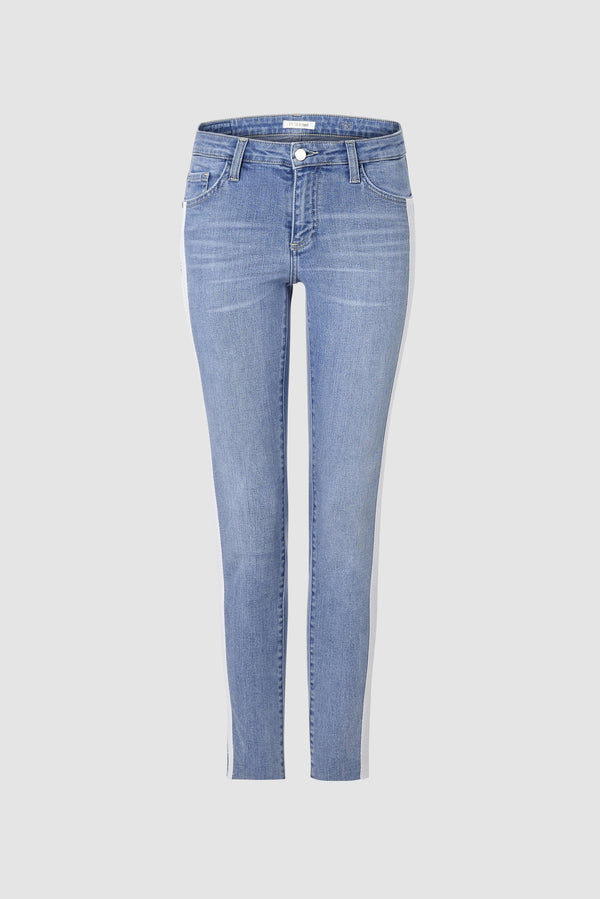Midi jeans with wide tape
