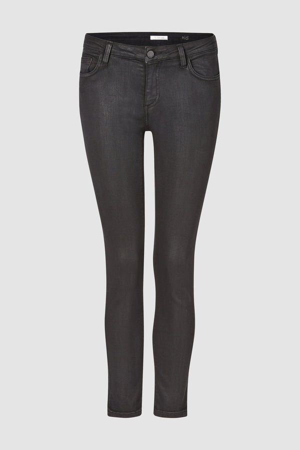 Rich & Royal - Midi-length coated denim jeans - bust