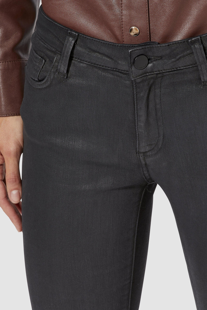 Rich & Royal - Midi-length coated denim jeans - detail view