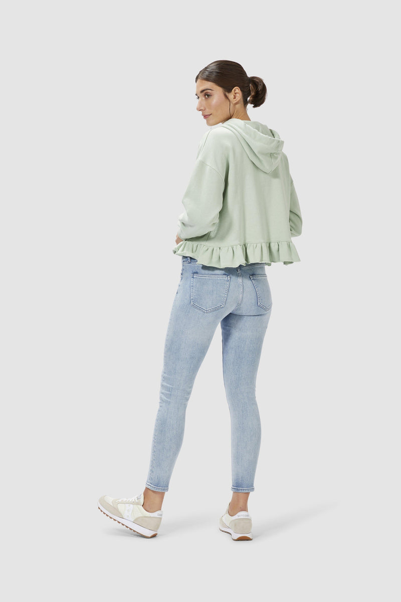 Rich & Royal - Midi jeans in sky blue denim  - model image back