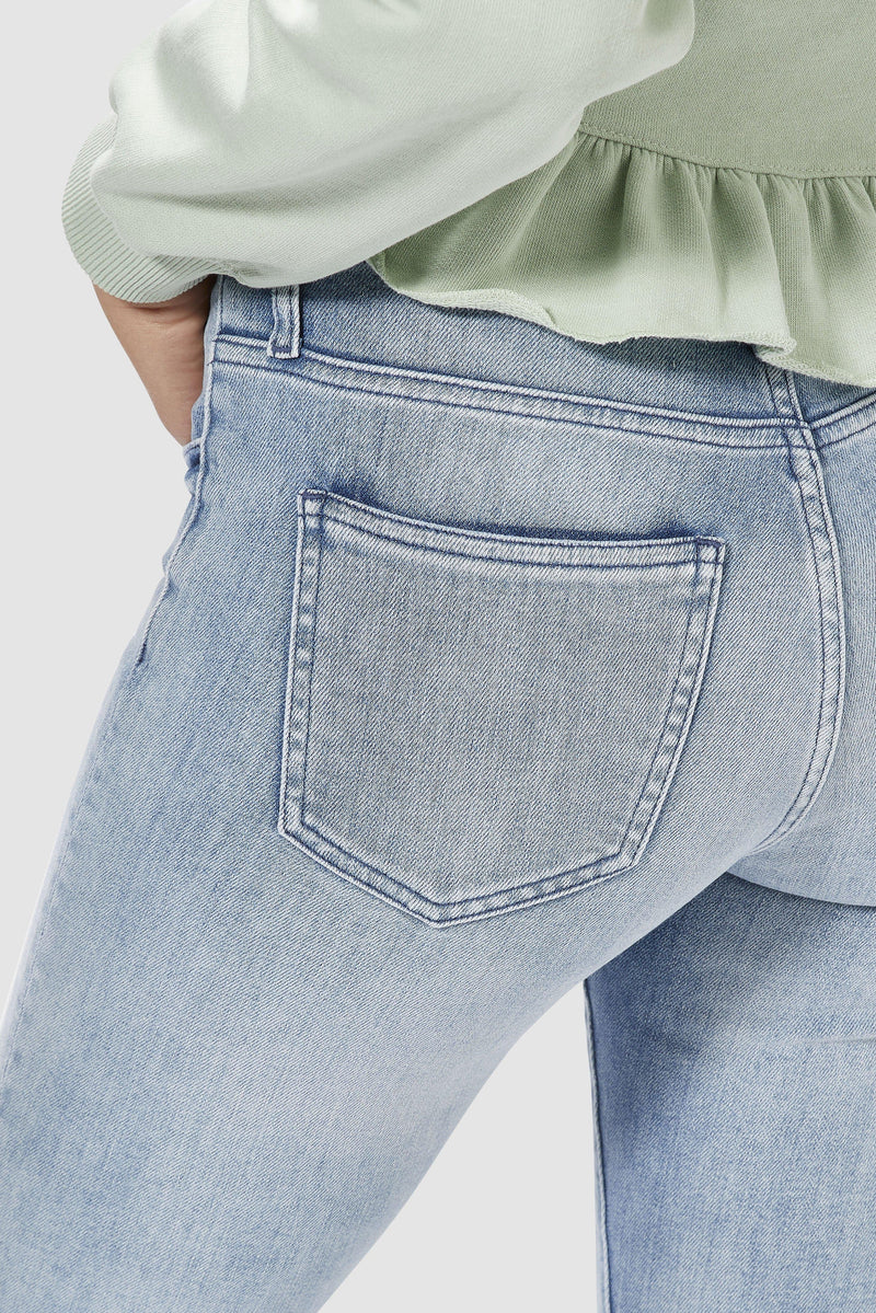 Rich & Royal - Midi jeans in sky blue denim  - detail view