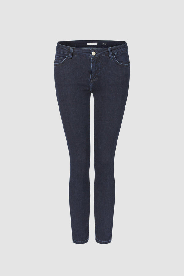 Midi jeans in a dark wash