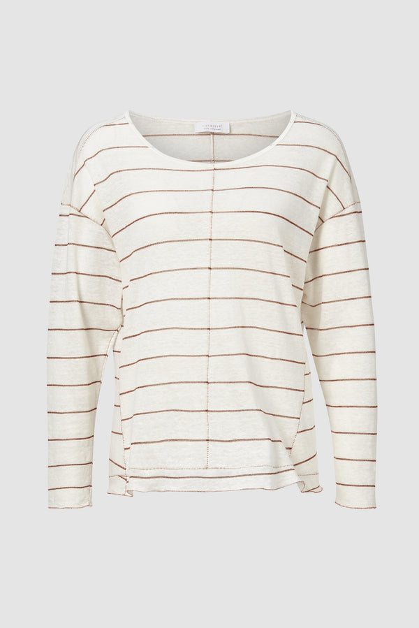 Rich & Royal - Long-sleeved linen top with lurex - bust