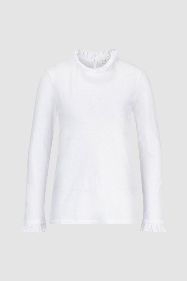 Rich & Royal - Frill Collar Long-Sleeve Shirt - bust