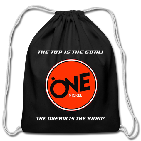 """The Nick"" - Cotton Drawstring Bag - black"