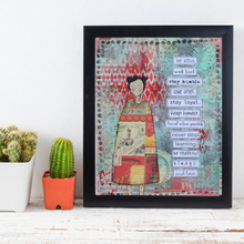 Load image into Gallery viewer, be kind… inspirational print