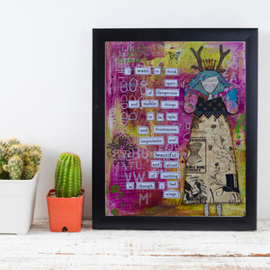 as though I had wings… motivational print