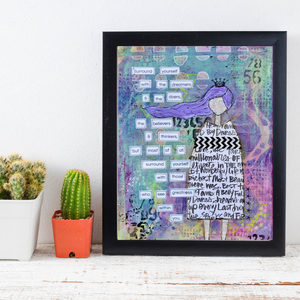 surround yourself… inspirational print